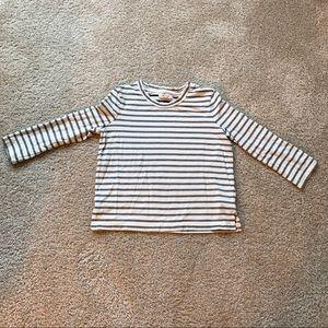Madewell 3/4 sleeve striped top, XXS